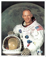 "Buzz Aldrin Signed NASA 8x10 Photo Inscribed ""Best Wishes"" (Beckett COA) at PristineAuction.com"