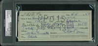 Eliot Ness Signed 1949 Personal Bank Check (PSA Encapsulated) at PristineAuction.com