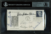 """First Ladies"" Commemorative Envelope Signed by (5) with Hillary Clinton, Barbara Bush, Betty Ford, Laura Bush & Rosalynn Carter (BGS Encapsulated) at PristineAuction.com"