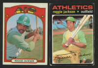 Lot of (2) Reggie Jackson Baseball Cards with 1971 Topps #20 & 1972 Topps #435 at PristineAuction.com