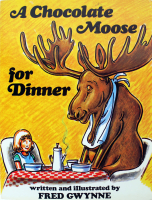 "Fred Gwynne Signed LE ""A Chocolate Moose for Dinner"" Softcover Book with Hand-Drawn Sketch & Extensive Inscription (Beckett LOA) at PristineAuction.com"