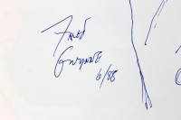 """Fred Gwynne Signed LE """"A Chocolate Moose for Dinner"""" Softcover Book with Hand-Drawn Sketch & Extensive Inscription (Beckett LOA) at PristineAuction.com"""