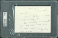 George H. W. Bush Signed Hand-Written Letter (PSA Encapsulated) at PristineAuction.com