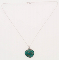 Sterling Silver Campo Frio Turquoise Pendant at PristineAuction.com