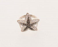 Sterling Silver Marcasite & CZ Starfish Ring-SZ 7 at PristineAuction.com