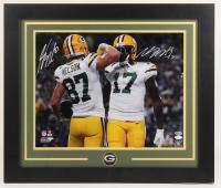 Jordy Nelson & Davante Adams Signed Packers 23.5x27.5 Custom Framed Photo Display (JSA COA & Beckett COA) at PristineAuction.com