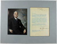 Harry S. Truman Signed 15x19 Custom Matted Letter Display (JSA LOA) at PristineAuction.com