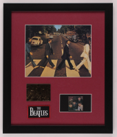 The Beatles 16x19 Custom Framed Photo Display with 23 KT Gold Card & Vintage Patch at PristineAuction.com