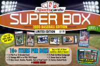 "Sportscards.com ""SUPER BOX"" 10+ Cards & Packs PER BOX!! Baseball Edition Mystery Box - Series 1 at PristineAuction.com"
