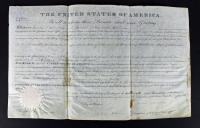 James Monroe Signed Land Grant Document (PSA LOA) at PristineAuction.com