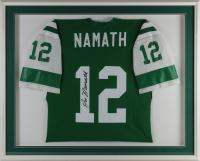 Joe Namath Signed 34x43 Custom Framed Jersey Display (Beckett LOA) at PristineAuction.com