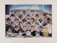 Bill Lopa Signed LE New York Yankees 20x26 Print (PA LOA) at PristineAuction.com
