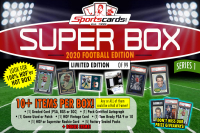 "Sportscards.com ""SUPER BOX"" 10+ Cards & Packs PER BOX!! Football Edition Mystery Box - Series 1 at PristineAuction.com"