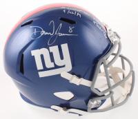 "Daniel Jones Signed Giants Full-Size Speed Helmet Inscribed ""1st Career Win 9/22/19"" & ""23/36 236 Yds 4 Total TDs"" (JSA COA) at PristineAuction.com"