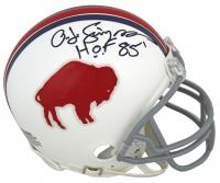 "O. J. Simpson Signed Bills Throwback Mini Helmet Inscribed ""HOF 85'"" (Beckett COA) at PristineAuction.com"