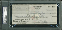 Lou Costello Signed 1946 Personal Bank Check (PSA Encapsulated) at PristineAuction.com