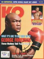 George Foreman Signed 1995 Knockout Boxing Magazine (PSA COA) at PristineAuction.com