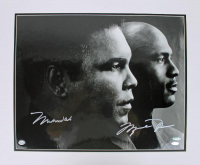 Muhammad Ali & Michael Jordan Signed LE 16x20 Matted Photo Display (UDA COA & Steiner Hologram) at PristineAuction.com