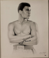 Muhammad Ali Signed 20x24 Lithograph (PSA LOA) at PristineAuction.com