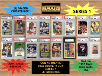 Icon Authentic 300x Series 1 Mystery Box (300+ Cards per Box) at PristineAuction.com