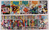 "Lot of (43) 1983 ""Alpha Flight"" 1st Series Marvel Comic Books at PristineAuction.com"