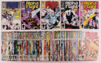 "Lot of (75) 1983 ""Alpha Flight"" 1st Series Marvel Comic Books at PristineAuction.com"