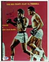 Muhammad Ali Signed 8x10 Photo with Date Inscription (PSA LOA) at PristineAuction.com