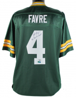 "Brett Favre Signed Packers Jersey Inscribed ""95 96 97 MVP"" (Fanatics Hologram & Favre Hologram) at PristineAuction.com"