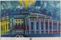 "Bill Lopa Signed ""Yankee Stadium"" 25x36 Print (PA LOA) at PristineAuction.com"