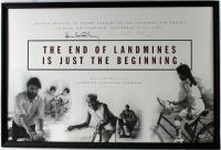 Paul McCartney & Heather Mills Signed 27x40 Landmine Survivors Network Framed Poster Display (PSA COA) at PristineAuction.com