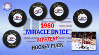 Schwartz Sports 1980 USA Hockey Miracle on Ice Signed Hockey Puck Mystery Box – Series 3 (Limited to 80) - * Miracle on Ice Team Signed 16x20 Photo Redemption* at PristineAuction.com