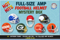Schwartz Sports Hot Hits - Football Stars Signed AMP Alternate Full Size Helmet Mystery Box – Series 1 (Limited to 25) at PristineAuction.com