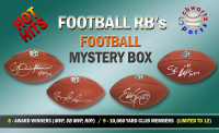 Schwartz Sports Hot Hits - Football Running Backs Signed Full Size Football Mystery Box – Series 3 (Limited to 12) at PristineAuction.com