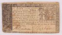 1770 $4 Four Dollars Maryland Colonial Currency Note at PristineAuction.com