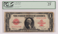 1923 $1 One Dollar Red Seal Large Size Legal Tender Bank Note Bill (PCGS 25) at PristineAuction.com