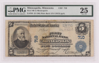 1902 $5 Five Dollars U.S. National Currency Large Bank Note - First National Bank of Minneapolis, Minnesota (PMG 25) at PristineAuction.com