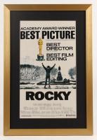 """Rocky"" 17x25 Custom Framed Movie Poster Print Display at PristineAuction.com"