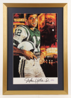 "Stephen Holland Signed ""Broadway: Joe Namath"" Jets 19x27 Custom Framed Print Display (PSA COA) at PristineAuction.com"