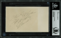 Roberto Clemente Signed 3x5 Cut with Inscription (BGS Encapsulated) at PristineAuction.com