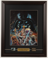 """Star Wars: The Empire Strikes Back"" 17.5x21.5 Custom Framed Print Display with (2) Pins at PristineAuction.com"