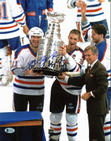 Wayne Gretzky & Mark Messier Signed Oilers 11x14 Photo (Beckett LOA) at PristineAuction.com