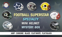 Schwartz Sports Football Superstar Signed Specialty Mini Helmet Mystery Box - Series 4 (Limited to 100) at PristineAuction.com
