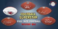 Schwartz Sports Football Superstar Signed Full Size Football Mystery Box - Series 15 (Limited to 100) at PristineAuction.com