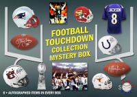 Schwartz Sports Football TOUCHDOWN Mystery Box - Series 3 (Limited to 112) (6+ Autograph Items per Box) at PristineAuction.com