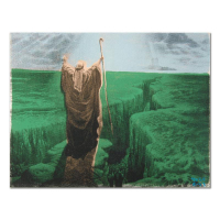 "Ringo Signed ""Moses"" 16x12 One-of-a-Kind Hand Pulled Silkscreen & Mixed Media on Canvas at PristineAuction.com"