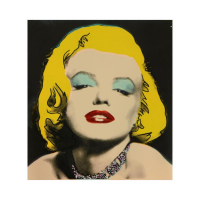 """Steve Kaufman Signed """"Marilyn Seduction"""" 14x14 One-of-a-Kind Mixed Media on Canvas at PristineAuction.com"""