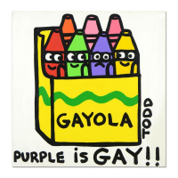 "Todd Goldman Signed ""Gayola"" 36x36 Original Acrylic Painting on Gallery Wrapped Canvas at PristineAuction.com"