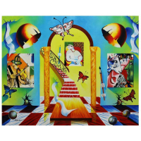 """Alexander Astahov Signed """"Stairway to Chagall Room"""" 24x30 Original Oil on Canvas at PristineAuction.com"""