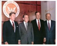Richard Nixon & Gerald Ford Signed 8x10 Photo (PSA COA) at PristineAuction.com