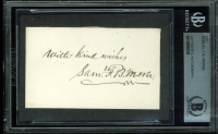 """Samuel Morse Signed 2x3 Cut Inscribed """"With Kind Wishes"""" (BGS Encapsulated) at PristineAuction.com"""